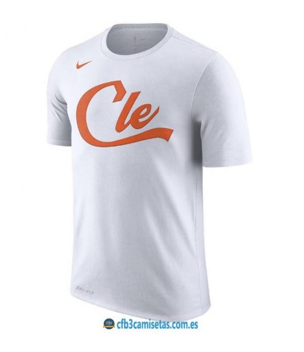 CFB3-Camisetas NoName Cleveland Cavaliers Sleeve Edition Blanco