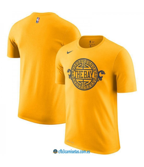 CFB3-Camisetas NoName Golden State Warriors Sleeve...