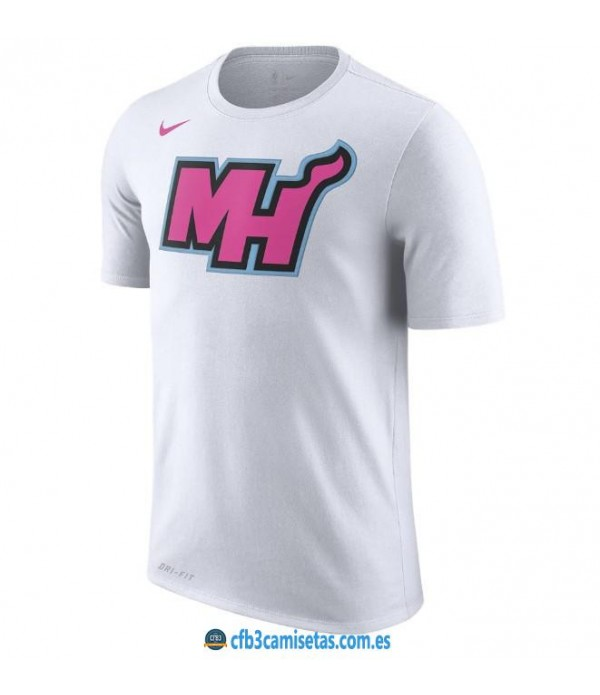 CFB3-Camisetas NoName Miami Heat Sleeve Edition Blanco