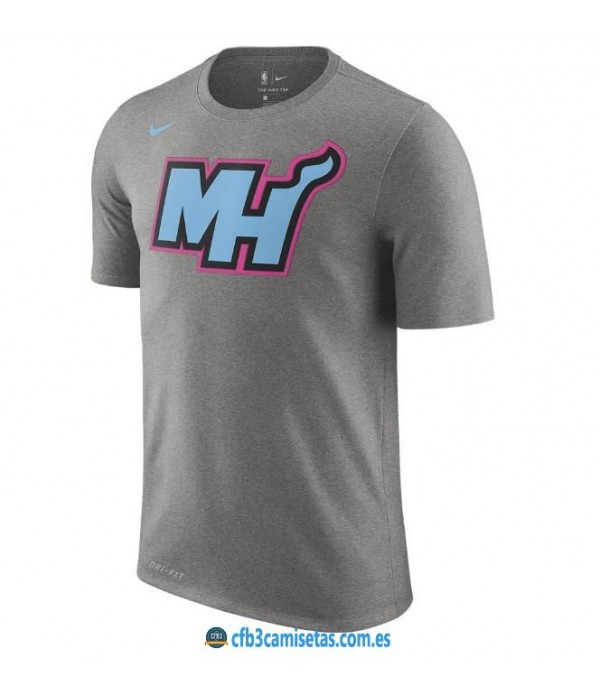 CFB3-Camisetas NoName Miami Heat Sleeve Edition Gris