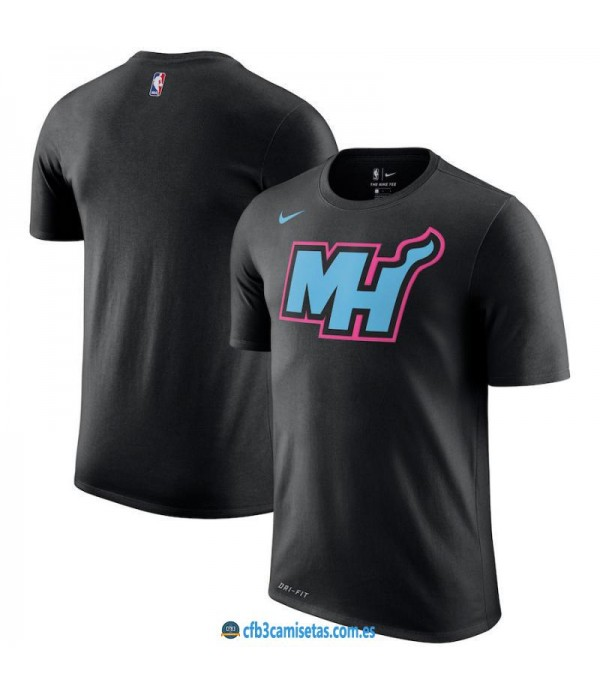 CFB3-Camisetas NoName Miami Heat Sleeve Edition Negro