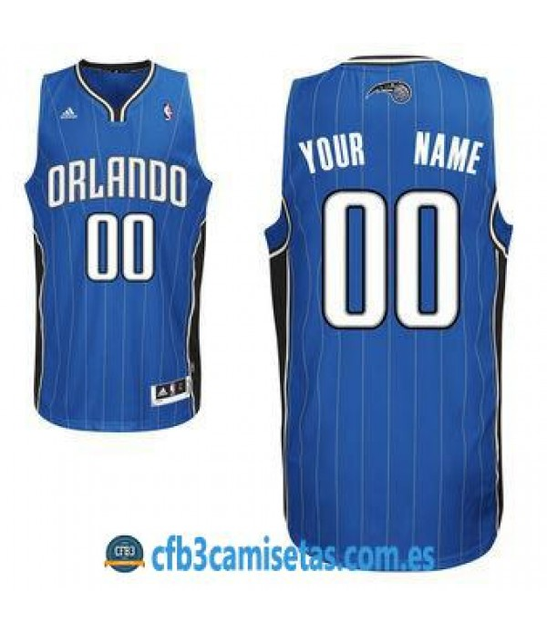 CFB3-Camisetas Orlando Magic Bllue PERSONALIZABLE