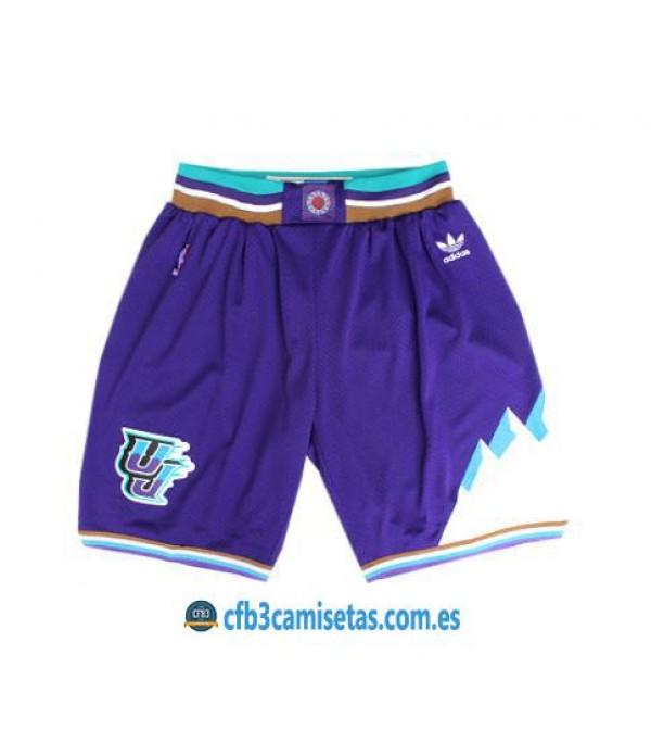 CFB3-Camisetas Pantalones Utah Jazz Blue