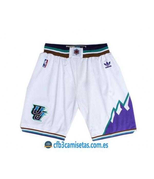 CFB3-Camisetas Pantalones Utah Jazz White