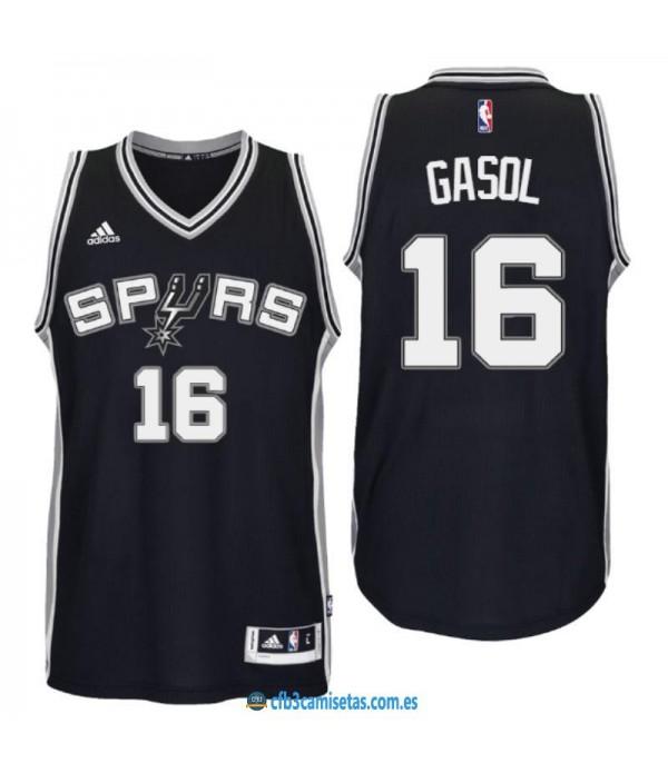 CFB3-Camisetas Pau Gasol San Antonio Spurs Black