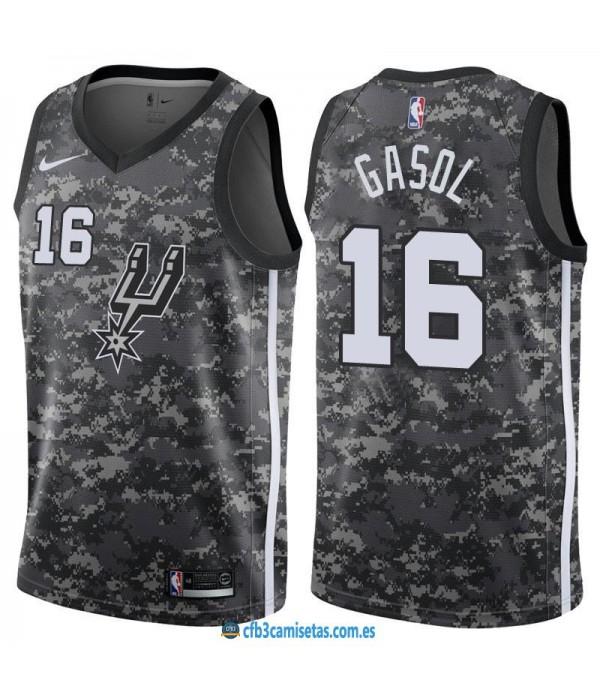 CFB3-Camisetas Pau Gasol San Antonio Spurs City Ed...