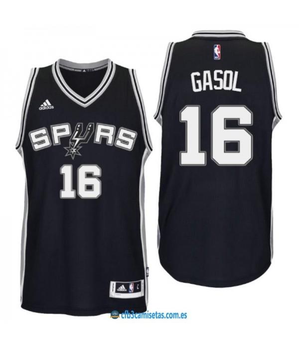 CFB3-Camisetas Pau Gasol San Antonio Spurs Negro
