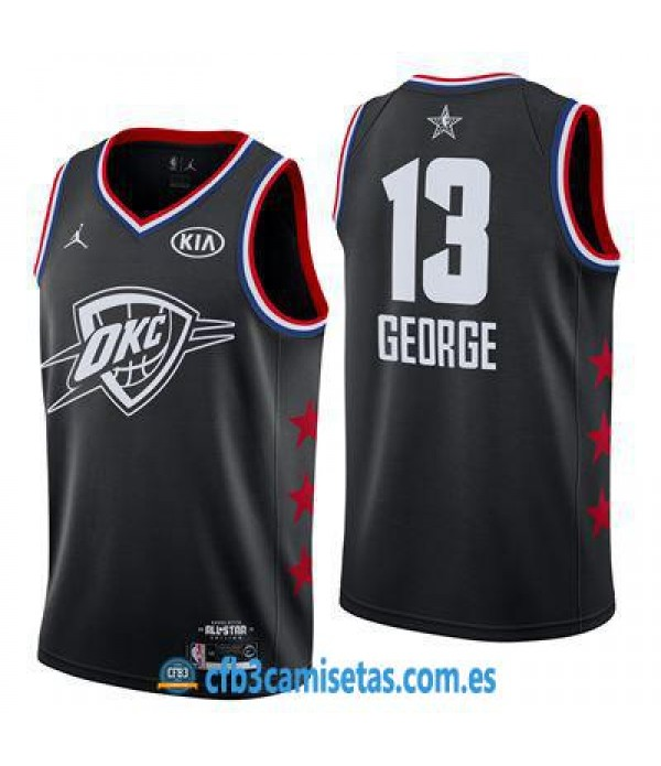 CFB3-Camisetas Paul George 2019 All Star Black