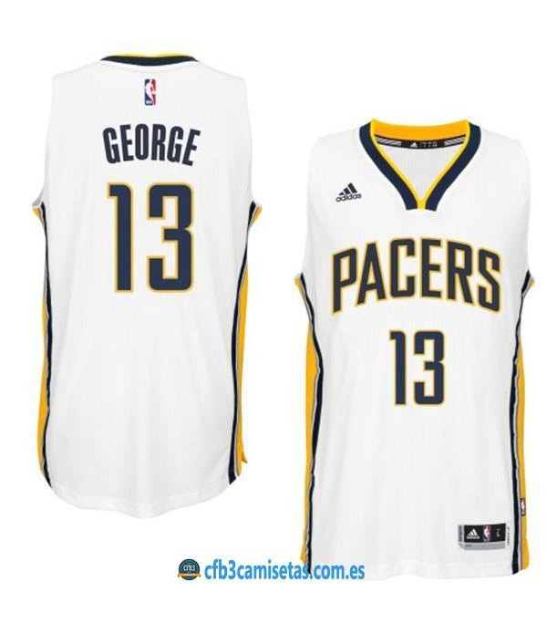 CFB3-Camisetas Paul George Indiana Pacers White