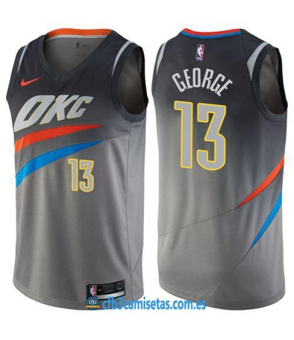 CFB3-Camisetas Paul George Oklahoma City Thunder City Edition