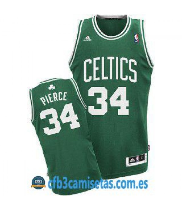 CFB3-Camisetas Pierce Boston Celtics Verde y blanca