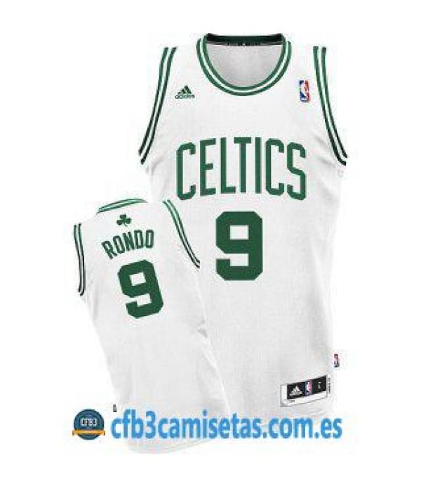 CFB3-Camisetas Rajon Rondo Boston Celtics Blanca y verde