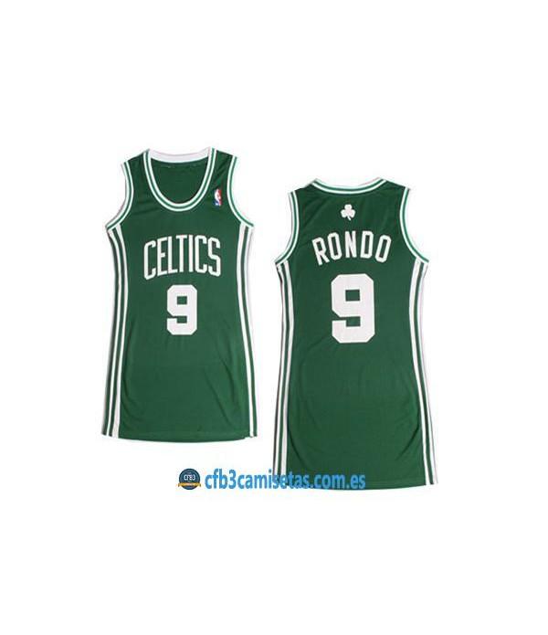 CFB3-Camisetas Rajon Rondo Boston Celtics Verde Mujer