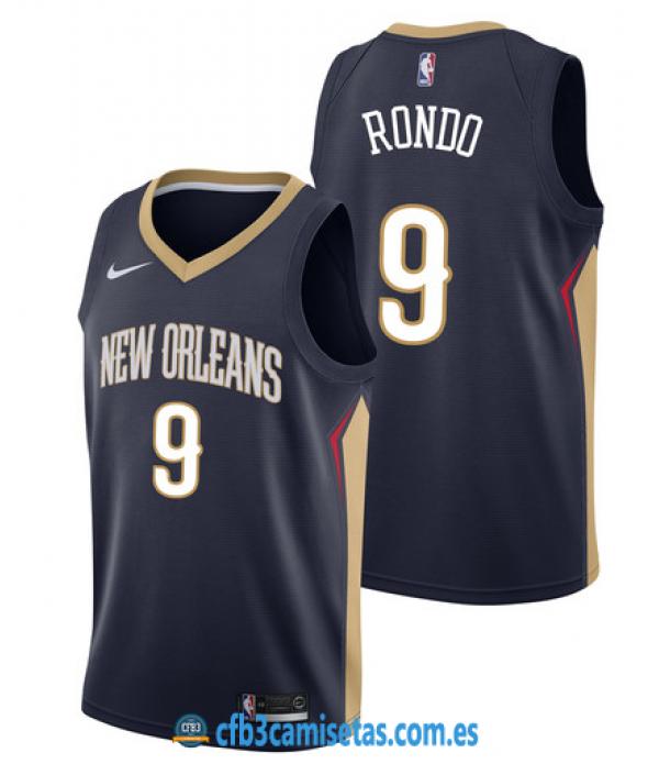 CFB3-Camisetas Rajon Rondo New Orleans Pelicans Ic...