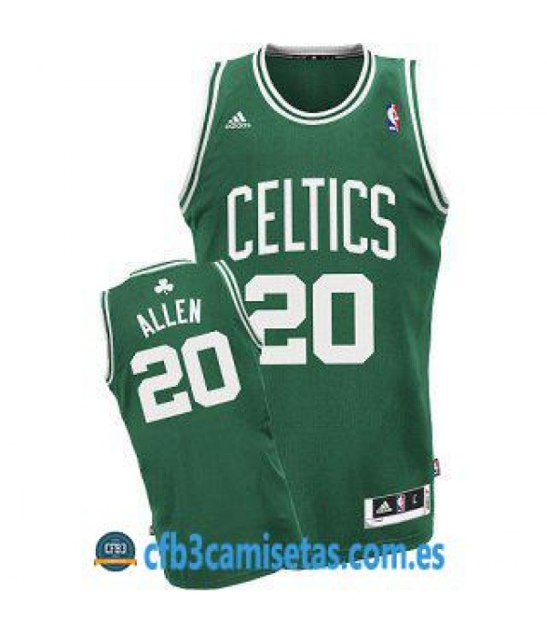 CFB3-Camisetas Ray Allen Boston Celtics Verde y blanca