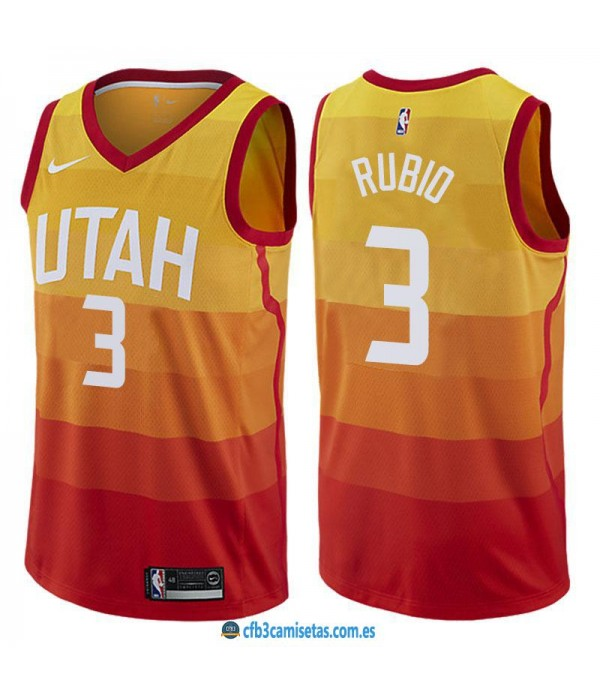 CFB3-Camisetas Ricky Rubio Utah Jazz City Edition