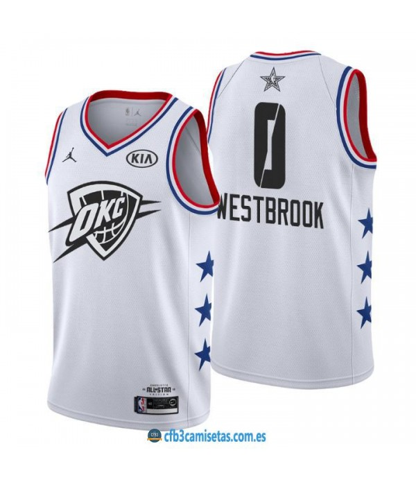 CFB3-Camisetas Russell Westbrook 2019 All Star Whi...
