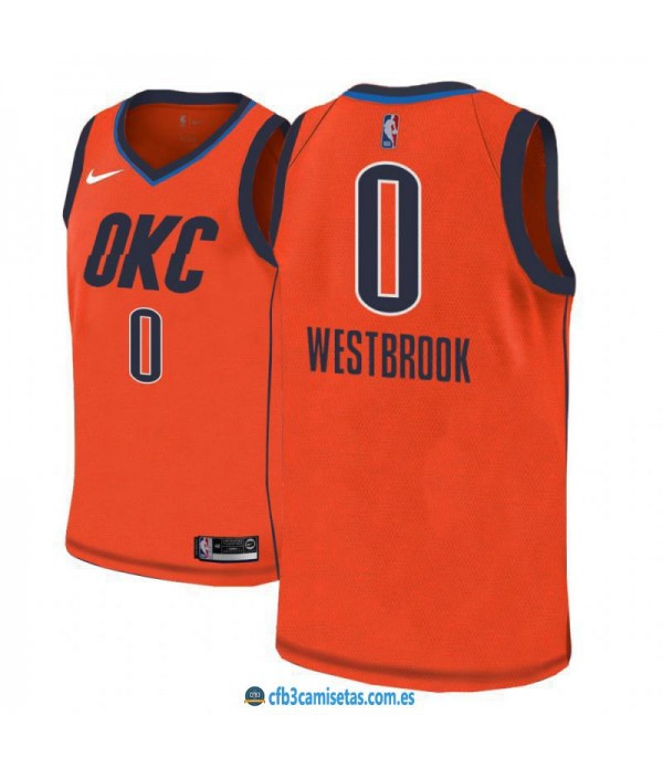 CFB3-Camisetas Russell Westbrook Oklahoma City Thunder 2018 2019 Earned Edition