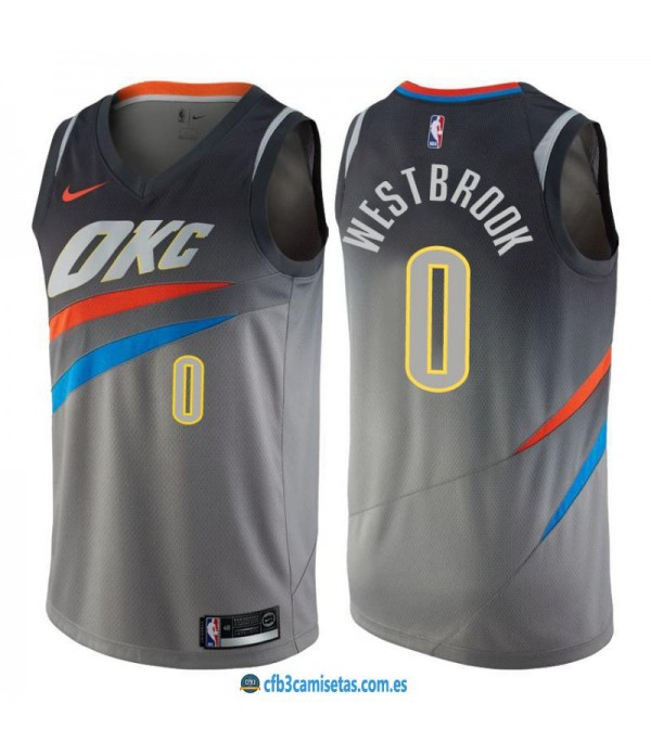 CFB3-Camisetas Russell Westbrook Oklahoma City Thunder City Edition
