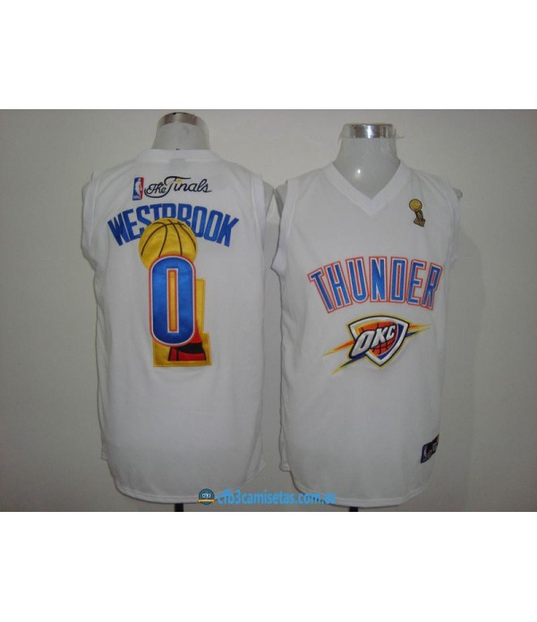 CFB3-Camisetas Russell Westbrook Oklahoma City Thunder Finals