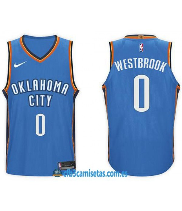 CFB3-Camisetas Russell Westbrook Oklahoma City Thunder Icon