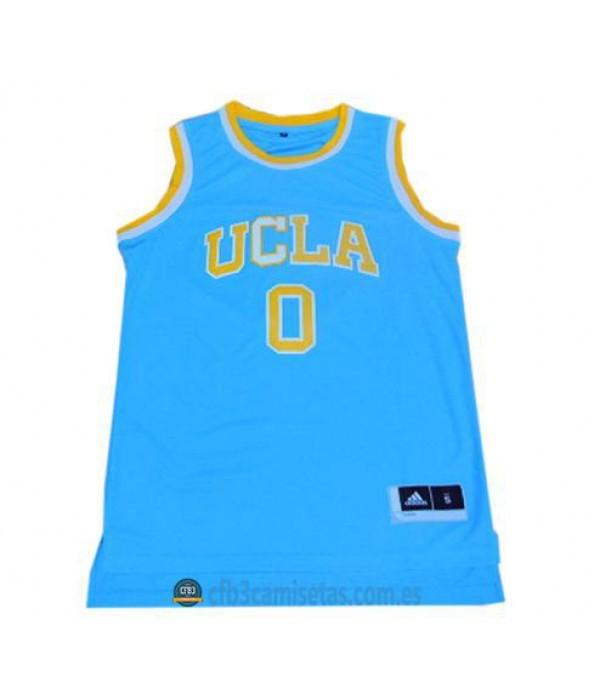 CFB3-Camisetas Russell Westbrook UCLA Bruins Blue
