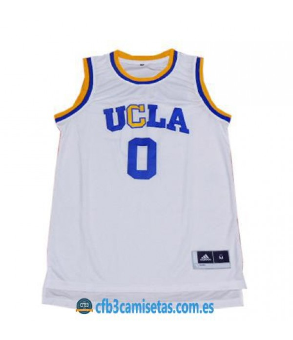 CFB3-Camisetas Russell Westbrook UCLA Bruins White
