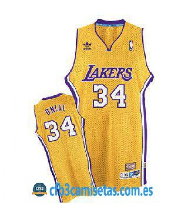 CFB3-Camisetas Shaquille ONeal LA Lakers Soul Swin...