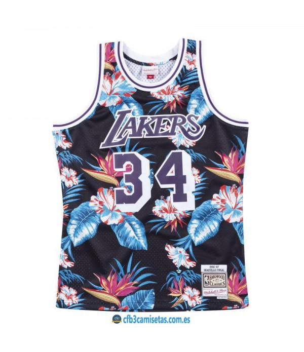 CFB3-Camisetas Shaquille O'Neal Los Angeles Lakers...