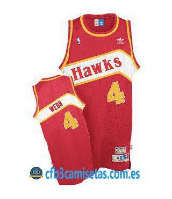 CFB3-Camisetas Spud Webb Atlanta Hawks Road