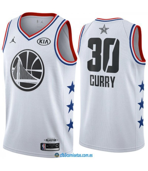 CFB3-Camisetas Stephen Curry 2019 All Star White