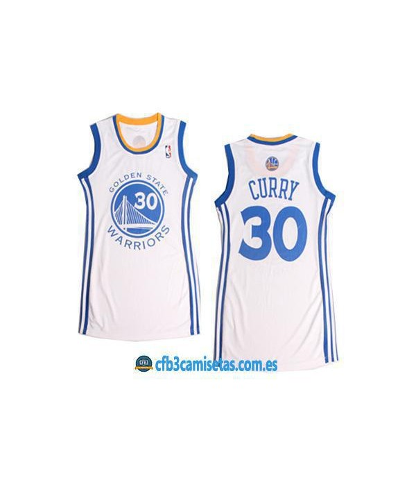 CFB3-Camisetas Stephen Curry Golden State Azul Mujer