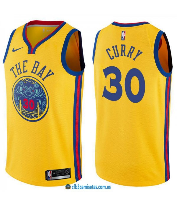 CFB3-Camisetas Stephen Curry Golden State Warriors City Edition
