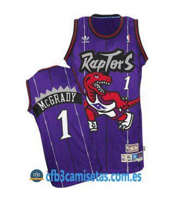 CFB3-Camisetas Tracy McGrady Toronto Raptors Morada