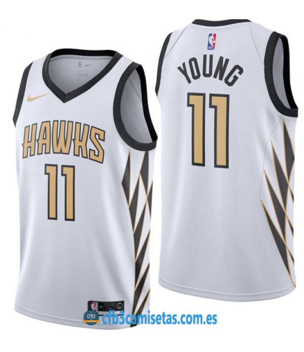 CFB3-Camisetas Trae Young Atlanta Hawks 2018 2019 City Edition