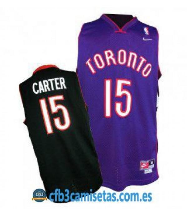 CFB3-Camisetas Vince Carter Toronto Raptors Bicolor