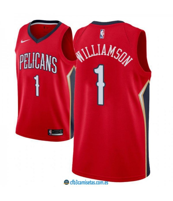 CFB3-Camisetas Zion Williamson New Orleans Pelicans 2018 2019 Statement