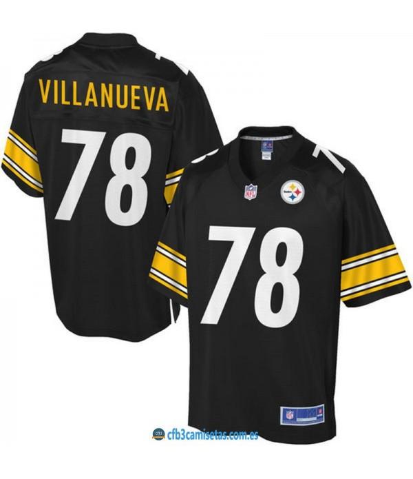 CFB3-Camisetas Alejandro Villanueva Pittsburgh Ste...
