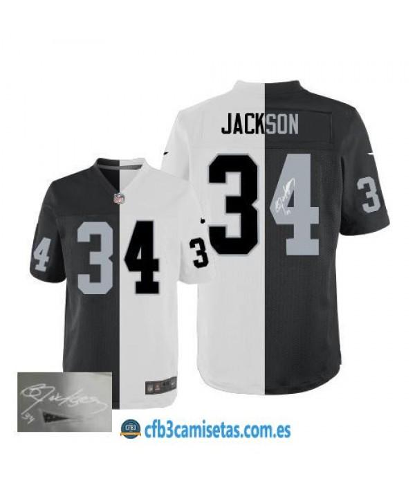 CFB3-Camisetas Bo Jackson Oakland Raiders Team/ Al...