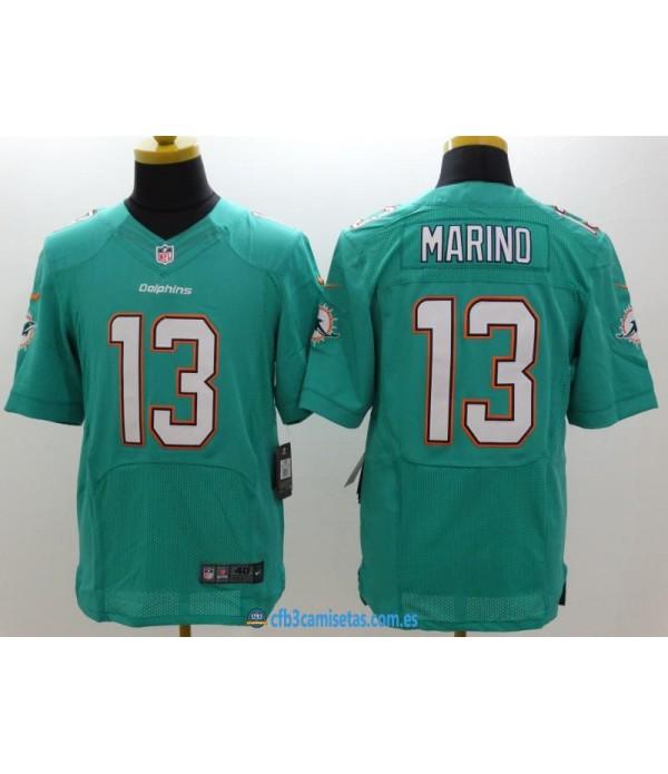 CFB3-Camisetas Dan Marino Miami Dolphins Aqua Gree...