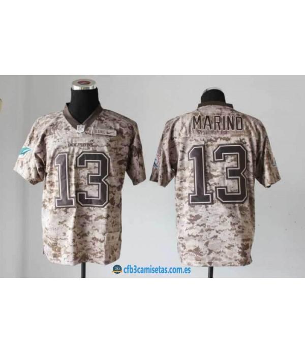 CFB3-Camisetas Dan Marino Miami Dolphins Nike Camo
