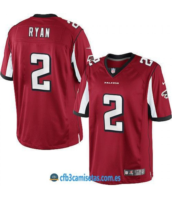 CFB3-Camisetas Matt Ryan Atlanta Falcons Red