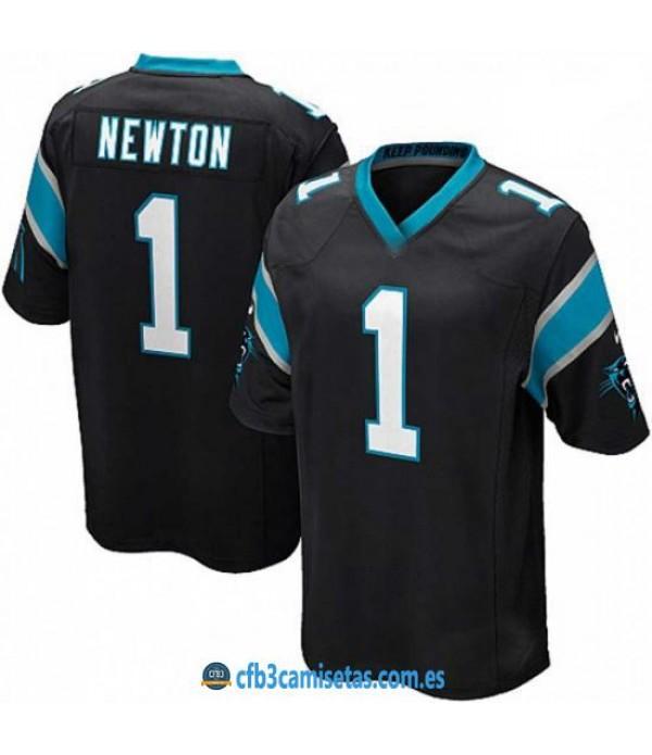 CFB3-Camisetas Newton Carolina Panthers Black