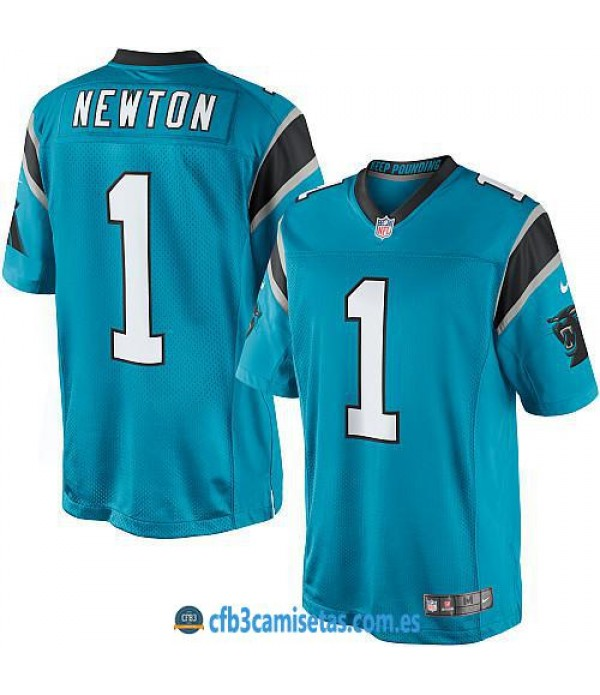 CFB3-Camisetas Newton Carolina Panthers Blue