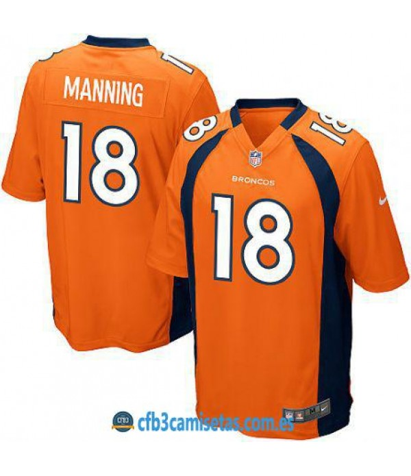 CFB3-Camisetas Peyton Manning Denver Broncos Orange