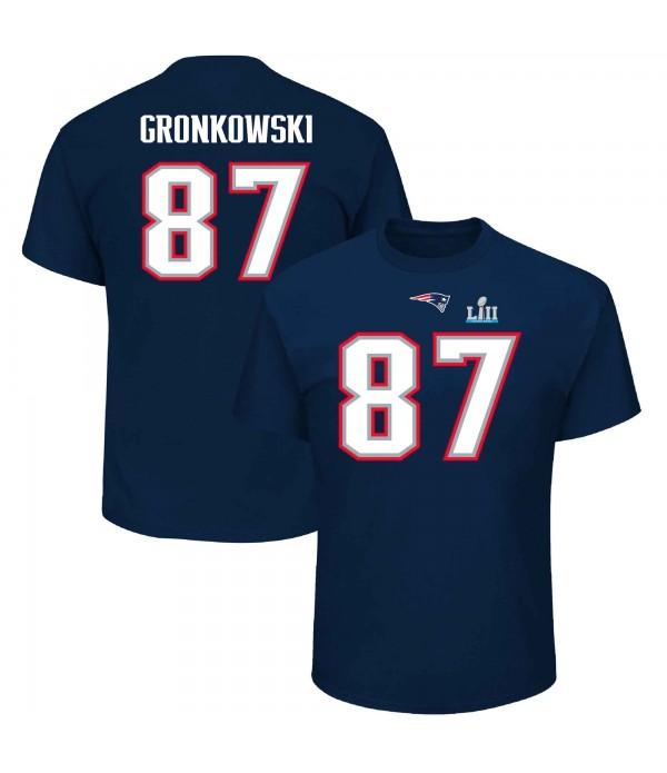 CFB3-Camisetas Rob Gronkowski New England Patriots SUPERBOWL LIII