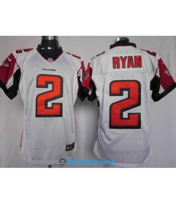 CFB3-Camisetas Ryan blanca Atlanta Falcons