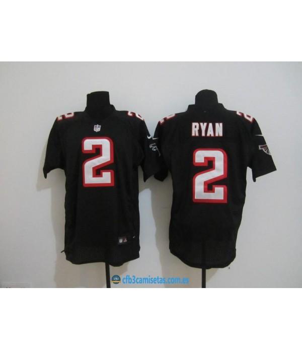 CFB3-Camisetas Ryan negra Atlanta Falcons