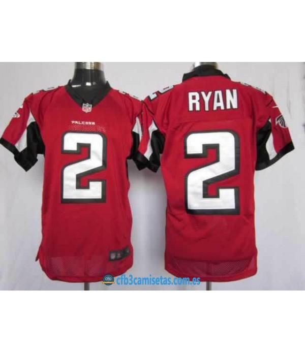 CFB3-Camisetas Ryan roja Atlanta Falcons