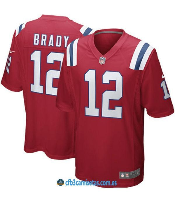 CFB3-Camisetas Tom Brady New England Patriots Red